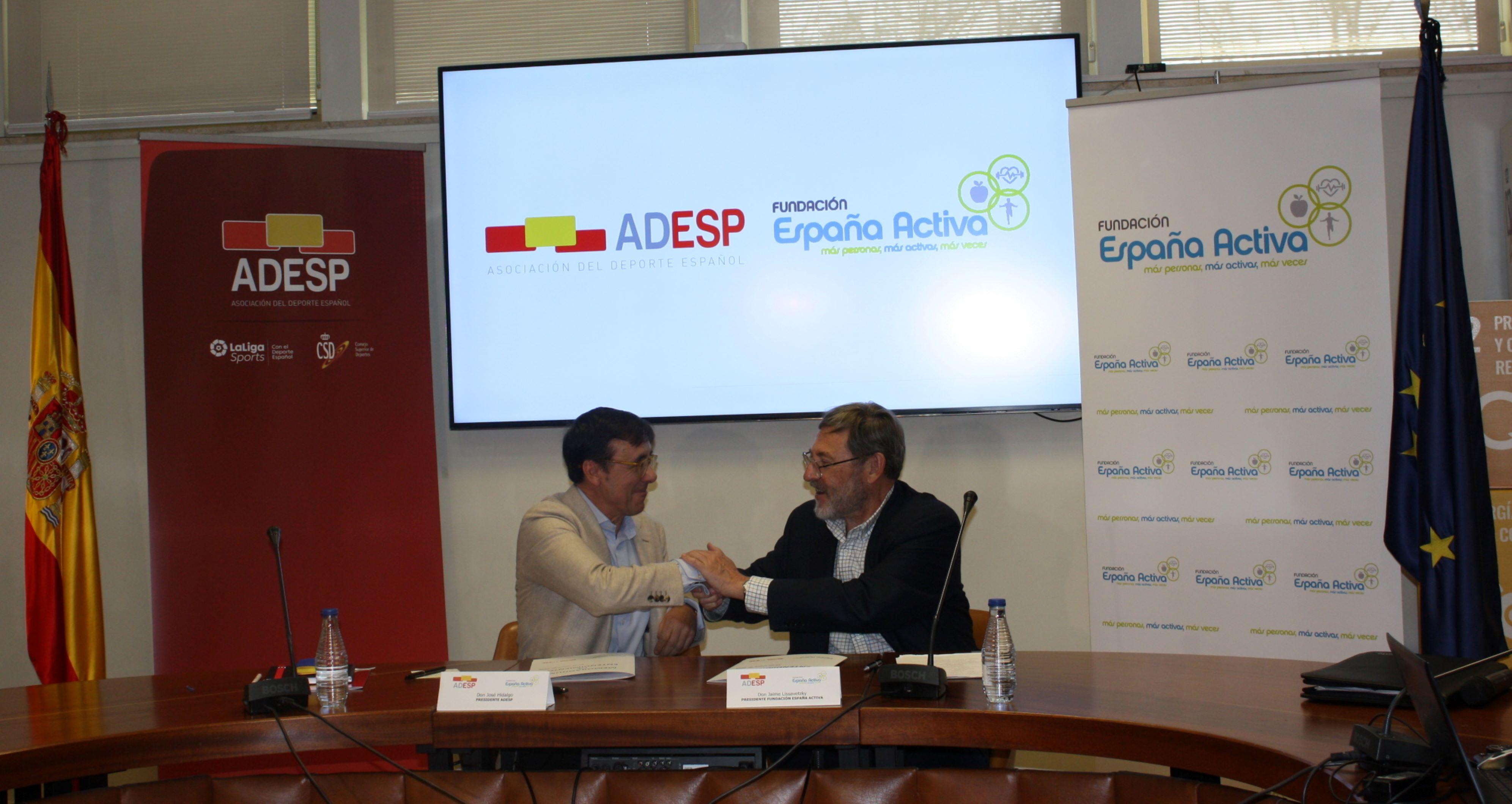 Firma acuerdo colaboración Fundación España Activa - ADESP